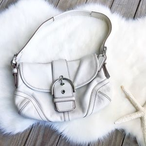 COACH Vintage White Leather Soho Shoulder Bag